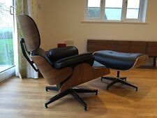 Mid Century Plywood Lounge Chair and Ottoman 100% WALNUT High Grade PU Leather