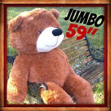"BIG HUGE PLUSH TEDDY BEAR Brown 59"" 150CM SOFT CUDDLY HUGGABLE FAST USA SHIP NEW"