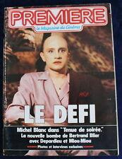 """PREMIÈRE CINÉMA + Fiches - """"Tenue de soirée"""" Michel Blanc... - N°109 / 1986"""