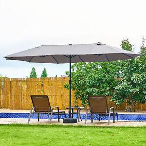 3M/4.6M Garden Parasol Umbrella Sun Shade Patio Cantilever/Double-Side UPF30