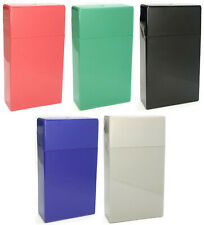 (4 Pack) Eclipse Plastic Crushproof Cigarette Case, 100s, Assorted Colors, 3115S