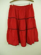 red skirt handmade red black ric rac full southwest Navajo