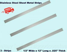 Stainless Steel Sheet Metal Strips 3 12 Wide X 12 Long X 025 Thick