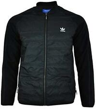 Adidas Originals Mens Superstar SST Quilted Jacket Black Full Zip Size LARGE