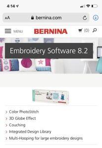 BERNINA Embroidery Software Version 8.2 (V8) Designer Plus Update