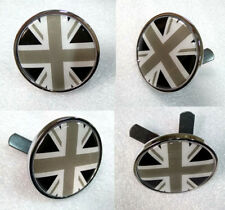Black Union Jack UK Flag Metal Front Grille Emblem Badge MINI COOPER British