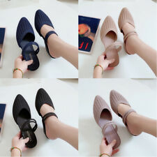Fashion Women's Summer Beach Sandals Pointed Toe Wedge Heel Shoes Slippers Size