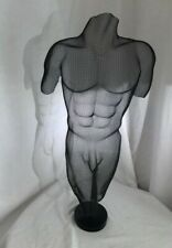 "Randy Cooper Shadow Sculpture,  Mesh Metal Art, Male Nude Torso, ""Jaimee"" Signed"