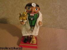 "WOODEN VETERINARIAN CHUBBY NUTCRACKER FIGURINE CHRISTMAS 7"""