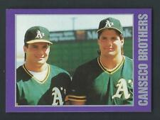 Jose Canseco 1989 Purple Border Star Card; NM-Mint; Oakland A's