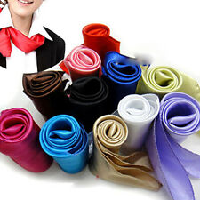Womens Lady Soft Scarf Satin Square Scarves Satin Neckerchief Neck Headband