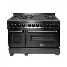 "Zline 48"" Black Stainless 6.0 cu.ft. 7 Gas Burner/Electric Oven Range (Rab-48)"