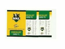 Checklist Original Set NRL & Rugby League Trading Cards