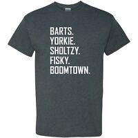 Barts Yorkie Sholtzy Fisky Boomtown - Funny Letterkenny Hockey T Shirt