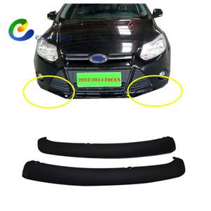For FORD Focus 2012-2014 Sedan Pair Front Bumper Trim Air Lip Spoiler Lower