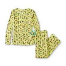 NWT $37-Womens 2 Pc Looney Tunes Tweety Fleece Winter Top & Pants Pajamas-sz 1X