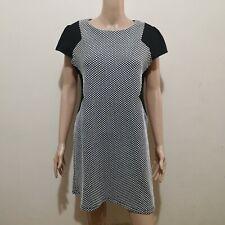 C551 - Dorothy Perkins Black and White Polka Dot Stretchable Dress