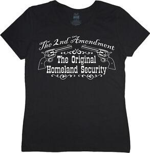 Ladies t-shirt 2nd amendment decal women's size tee shirt