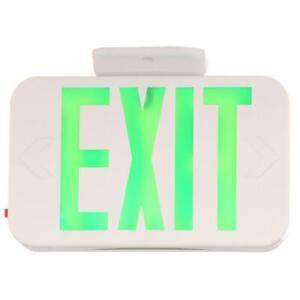 Progress Lighting Thermoplastic LED Exit Sign with Green Letters - PE009-30