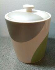 Starbucks Coffee Tea Canister 2005 Silver/Grey Green Circles Ceramic Modern