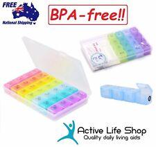 Pill Organiser 7-day Pill Box Dispenser 4 Compartment Storage PREMIUM BPA-FREE