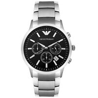 Emporio Armani AR2434 Men's Classic Black Dial Chronograph Designer Quartz Watch