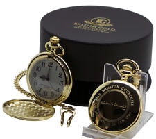 SIGNED SIR WINSTON CHURCHILL 24K Gold Clad Pocket Watch Fob in Luxury Case
