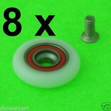 8 x porte de douche rouleaux/patins/pièces de rechange 25mm roues diamètre L077-1i