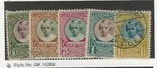 Luxembourg, Postage Stamp, #B30-B34 Used, 1928