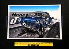 "1952 Henry J 52 Classic Hot Rod Drag Racing Art Print Poster 11"" by 17"" Garage"