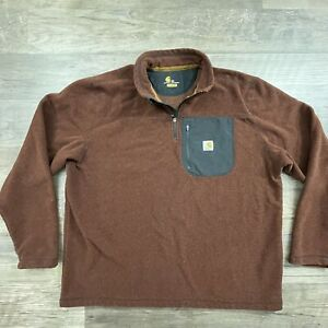 Carhartt Mens Walden Quarter Zip, Pullover Fleece Sweater, Size 2XL REGULAR