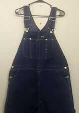Dickies Cargo Overalls Dark Blue Jean Denim Bibs 40x31 Farmer Costume
