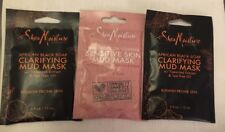 Shea Moisture 2 Clarifying mud masks + 1 sensitive skin Mud Mask .5oz (LOT of 3)