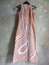 vintage kleid 70er 60er frottee s,36,38 handgefertigt maxikleid