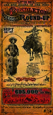 Pendleton Oregon Round Up Rodeo poster Let er Buck Indian cowboy Jackson Sundown