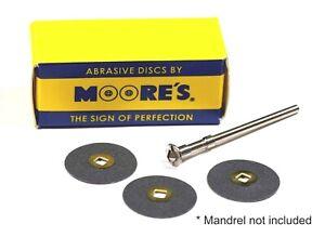 "Moore's Silicon Carbide Discs Dental, Jewelry, Lapidary 1/2"" 3/4""  7/8""  50Discs"