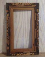 Vintage Distressed Carved Wood Decorative Art Mirror Frame