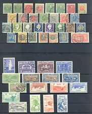 ICELAND ISLAND 47 STAMPS */(*)/0 --F/VF