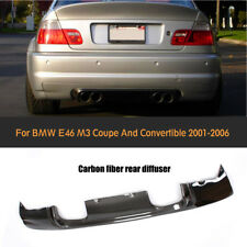 For BMW 3 Series E46 M3 2001-2007 Carbon Fiber CSL Rear Bumper Diffuser