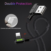 Mcdodo Right Angle Game Cable Sync Charging Data USB LED Cord iPhone/ Type C