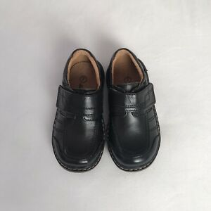 Baby Boys Infant Toddler Black/Brown Leather Shoe Size 6 7 8 9 10 11
