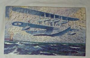 Vintage Wooden Victory Jigsaw  Short-Rolls Royce Flying Boat 150 Pieces