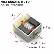 Small Thin 020 Square DC Motor DC 3V 6200RPM High Speed DIY Hobby Toy Car Models