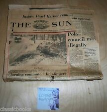 The Weekly Sun Dec 6th 1991 with Japan Declare War Newspaper from 1941