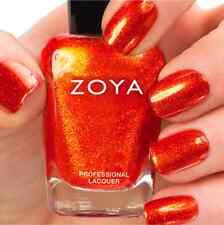 ZOYA #ZP670 AMY red orange metallic nail polish lacquer~IRRESISTIBLE Collection