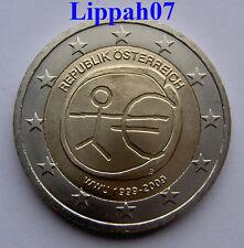 Oostenrijk 2 euro 10 jaar EMU 2009 UNC