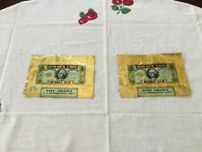 1949 Topps Golden Coin Bubble Gum Wrappers Lincoln And Grant