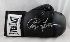 George Foreman Autographed Black Everlast Boxing Glove - JSA W Auth/Holo