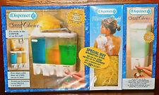 Clear Choice Dispenser 3 Compartments Shampoo Conditioner Soap BONUS SINK & PUFF