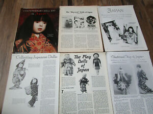 Lot of 6 JAPAN DOLL History Article / TOYS / COLLECTING / BIG EYED /CONTEMPORARY